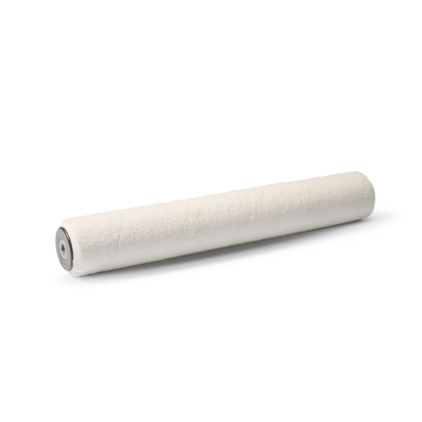 Rullo per pavimenti a pelo basso in microfibra di poliestere a filo continuo.